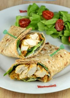 Delicious chicken tikka wraps recipe with quick and easy homemade oven baked chicken tikka - great lunch box idea for adults or kids