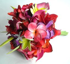Hot Tropical Destination Wedding Bouquet and by BlueLilyBridal, $168.50