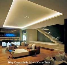 Fascinating Futuristic Design from A House in South Africa: Fantastic St Leon Home Design Interior With Wooden Flooring And Modern Furniture. House Design, House, Home, Modern Stairs, Interior Architecture, Luxury Homes, New Homes, House Interior, Modern Interior