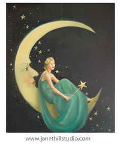 10x12 Phoebe. Original Oil Painting. by janethillstudio on Etsy