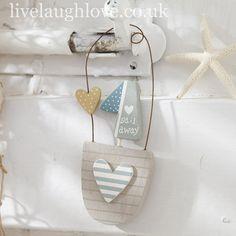 Sail Away Hanging Boat Decoration-Stripe Heart