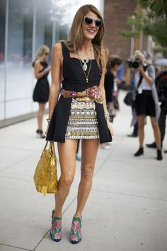 #streetstyle Anna Dello Russo at Prabal Gurung, | Street Fashion | Street Peeper | Global Street Fashion and Street Style