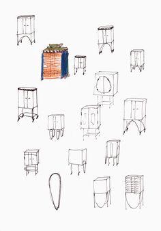 50 - Skizzen Schränkchen