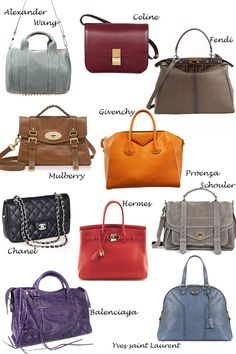 i don't really care much for luxury handbag (mostly because i could probably never afford them), but i just love the aesthetics of the Chanel, Balenciaga, and Proenza Schouler. Branded Bags, Luxury Bags, Beautiful Bags, Clutch Purse, Purses And Handbags, Hermes Handbags, My Bags, Fashion Bags, Leather Bag