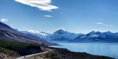 A motorhome returns from Mt Cook National Park alongside Lake Pukaki. Photo / Mark Meredith