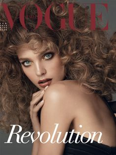 Natalia Vodianova on the cover of Vogue Italia (for the 5th time), July 2013. Photo: Steven Meisel.