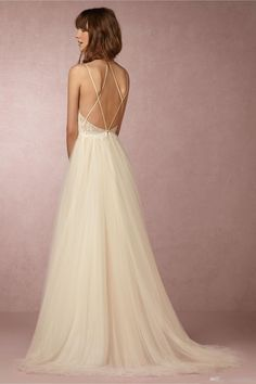 2017 Beach Wedding Dress BHLDN Sexy Spaghetti Strap Sleeveless Appliques Lace On Top A-Line Wedding Gowns Custom Made