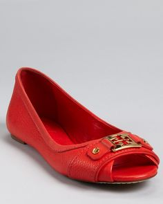 5e6231bcdf7d Tory Burch Flats - Clines Open Toe Ballet  235.00 Peep Toe Flats