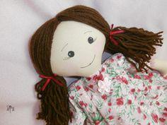Emily cloth doll, rag doll, art doll, toy, doll by pillimolli on Etsy