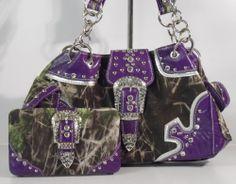 Purple Mossy Oak Handbags Wholesale Only Camo Backpack, Camo Purse, Fashion Handbags, Purses And Handbags, Feminine Pads, Small Diaper Bag, Belly Bands For Dogs, Purple Camo, Western Purses
