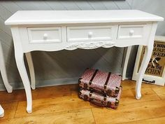 Country Dressing Tables with 3 Drawers White Dressing Tables, Autumn Home, French Style, French Vintage, Entryway Tables, Console, I Shop, Drawers, Shabby Chic