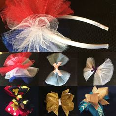 Etsy shop name is TiffanysRibbons. I make hair bows for girls. I use material such as tulle, ribbon, glitter ribbon, alligator clips, headbands and more. There is an assortment of colors like teal, gold, red, white, blue. I also take special orders. I am now make tutus. I make wreaths out of ribbons and tulle. There will by much more to come so feel free to follow me on etsy and Facebook at TiffanysRibbons and Instagram at TiffanysRibbons12 so you don't miss anything. A lot coming for craft…
