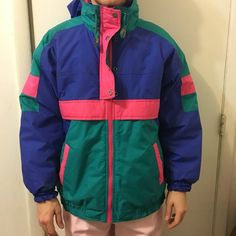 92e5526fd Super 80s vintage ski jacket windbreaker coat. This is so so - Depop 80s Ski