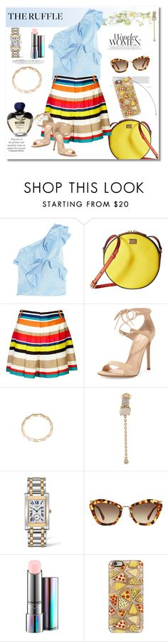 """Get the look"" by vkmd ❤ liked on Polyvore featuring MSGM, Dolce&Gabbana, Alice + Olivia, Gianvito Rossi, Astley Clarke, Jacquie Aiche, Barneys New York, Miu Miu, MAC Cosmetics and Casetify"