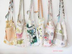 I have so many vintage linens....  LOVE these bags!