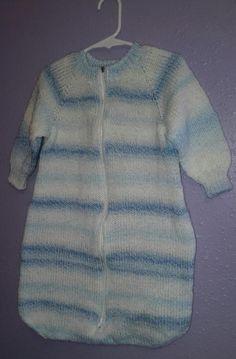 Baby Sleep Sack   AllFreeKnitting.com