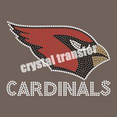 Cardinals Rhinestone Transfer Design