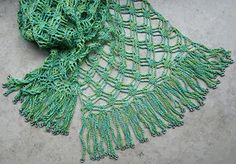 Silky Crochet scarf - Pattern is available as a free Ravelry download; the pattern includes charts only.