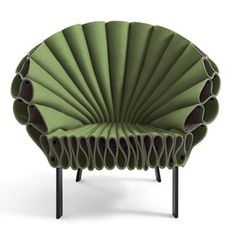 Genial Dror Benshetrit Peacock Armchair   Peacock, An Armchair Created Entirely Of  A Single Sheet Of Felt Wrapped Over A Metal Base Varnished In Dark Brown.