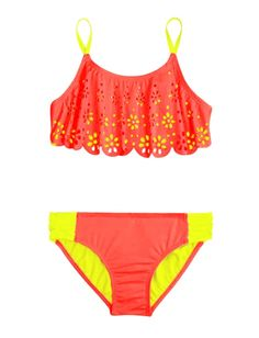 Cutout Flounce Bikini Swimsuit | Girls Swimsuits Swimwear | Shop Justice