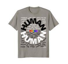 01a5f7d4b10 Human - Gay tshirt LGBT Pride Rainbow T Shirt