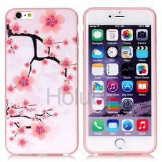 IMD Craft Soft TPU Back Case for iPhone 6 6S - Wintersweet Pattern