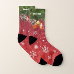 Colorful Christmas Decorations Socks - red gifts color style cyo diy personalize unique