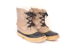 80s Black and Tan Sorel Snow Boots