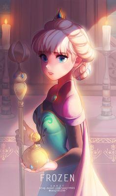 Elsa the Snow Queen - Frozen (Disney) - Mobile Wallpaper - Zerochan Anime Image Board Frozen Disney, Elsa Frozen, Disney Magic, Frozen Anime, Frozen Queen, Frozen 2013, Frozen Movie, Frozen Princess, Disney Films