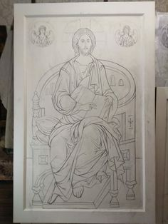 Angel Artwork, Alphonse Mucha, Orthodox Icons, Ikon, Drawing S, Art Lessons, Surrealism, Christian, Embroidery