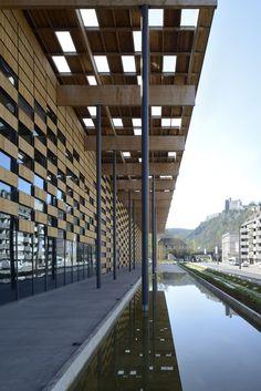 Besançon Art Center and Cité de la Musique | Kengo Kuma & Associates | Besançon (France), 2012
