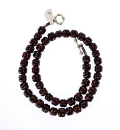 Black/Red Venetian Rattlesnake Necklace#1334 | Chains | Jewelry — Deco Art Africa - Decorative African Art