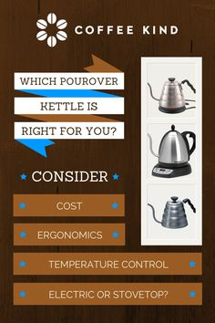 Choosing a pourover kettle- what's right for you? https://www.facebook.com/pages/Coffee-Society/651773478236556
