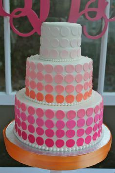 ombre bat mitzvah cake - Google Search