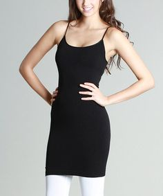 This Black Tunic Camisole - Women is perfect! #zulilyfinds