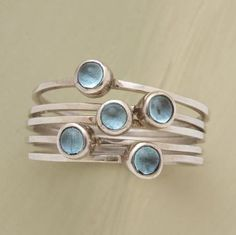 Pretty blue stacking rings