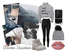 """Winter Vacation"" by my-dreams29 ❤ liked on Polyvore featuring Casetify, Miss Selfridge, Woolrich, Timberland and Lime Crime"
