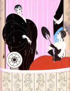 Loge de Théâtre by Erté (detail) douache illustration 1912. (from Art Deco the Golden Age of Graphic Art & Illustration by Michael Robinson & Rosalind Ormiston 2013) please follow minkshmink on pinterest)   #artdeco