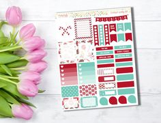 Christmas weekly stickers kit  Themed by PrettyCraftyStickers