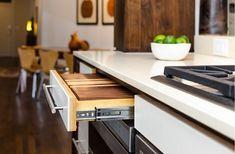 Wooden Cutting Boards and Butcher Blocks for Any Kitchen Steel Kitchen Sink, Loft Kitchen, Modern House Plans, Modern House Design, Kitchen Cabinets Upgrade, Galley Kitchens, Wooden Counter, Kitchen And Bath Design, Dining Room Design