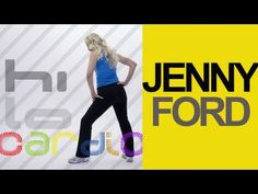 Jenny Ford Hi-Lo Cardio Workout - Beginner level. Combination high-impact and low impact aerobic routine. No equipment needed.