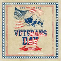 Customize this design with your video, photos and text. Easy to use online tools with thousands of stock photos, clipart and effects. Free downloads, great for printing and sharing online. Instagram Post. Tags: veteran day flyer, veterans day, veterans day 11 november, veterans day flyer, veterans day instagram, Memorial Day, Veteran's Day , Memorial Day