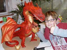 jacks paper mache dragon