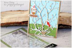 Awesome handmade Christmas card made using the Marvy Uchida Snow Marker.