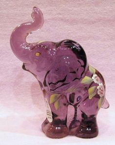 Fenton Elephant No. 5158 L2 Signed by Lynn Fenton   Offered by #JuleesTreasures on Bonanza