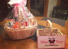 diaper raffle tickets and prize movie basket
