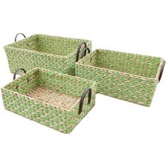 3-Piece Juliette Wicker Basket Set