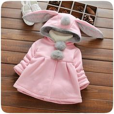 girls jacket autumn Picture - More Detailed Picture about Baby Girl Winter Clothes Toddler Coat Hooded Jacket Cartoon Rabbit Ears Long Sleeve Girls Jackets Autumn Kids Clothing 2017 Picture in Jackets & Coats from Bestime Children's Clothes Store Winter Baby Clothes, Winter Outfits For Girls, Baby Girl Winter, Winter Kids, Kids Outfits Girls, Baby Outfits, Kids Girls, Fashion Kids, Toddler Fashion