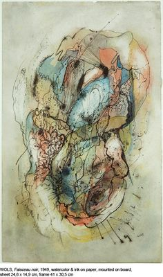 Wols, Faisceau noir, 1949 Joan Miro, Modern Art, Contemporary Art, Automatic Drawing, Tachisme, Francis Picabia, Abstract Art, Abstract Paintings, Patterns In Nature