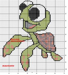 Pixar Nemo character hama perler pattern by Mauricette